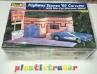 Revell-Monogram 1:25 Highway Scenes 60 Corvette With Die-Cut Diorama #85-7802