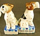 New Anthropologie Every Dog Has His Day Salt  Pepper Shaker by Artist David Cle
