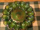IRIDESCENT GREEN CARNIVAL GLASS HOBNAIL 15 WELL DEVILED EGG PLATE/TRAY. 3.5 LB