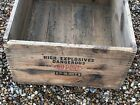 22104 Antique Original DU PONT  Explosive Wooden Crate Shipping Box - Dovetailed