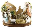 Advent Wreath Candle Holder Bethlehem Nativity Scene Complete with 4 Candles