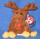 TY BEANIE BABY KEY CLIPS - VILLAGER THE MOOSE - CANADA EXCLUSIVE - MINT TAGS