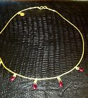 Gurhan 24 Carat Gold and Ruby Ladies Necklace