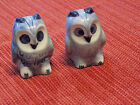 Vintage Blue Owl Salt and Pepper Shakers Made In Thailand s1 1b