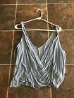 Free People Baby Blue Tank Top S