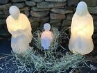 EMPIRE WHITE NATIVITY JESUS MARY JOSEPH CHRISTMAS BLOW MOLD LIGHTS UP