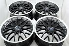 4 New DDR R6 18x8 5x120 35mm Black Polished Lip 18 Wheels Rims