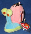 TY GARY the SNAIL KEY CLIP BEANIE BABY (RARE METAL KEY CLIP) - MINT TAGS