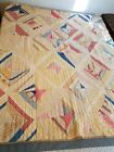Antique Vintage Primitive Country Crazy Quilt - Cutter