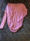 Fabulous Free People Pink Red Knit Long Sleeve Top Size XS