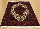 Genuine Hand Knotted Vintage Persian Senah Cena Wool Area Rug 5 x 4 FT (4501)
