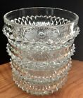 Set of 4 Vintage Indiana Glass Diamond Point Clear 5