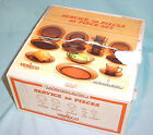 NEW 20 Pc VERECO France Amber Glass Dish Set 4 X Settings Plates Bowl Cup Saucer