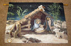 Boyds Bears Christmas Nativity Peace on Earth Tapestry Wall Hanging