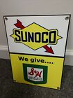 Sunoco S&H Stamps Gas Oil gasoline sign ..FREE ship on 10 signs