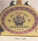 BASKET WE THANK THEE LORD Salt and Pepper Shakers NEVER USED COLLECTION MINT