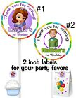 20 SOFIA THE FIRST BIRTHDAY PARTY FAVORS STICKERS LABELS FOR YOUR FAVORS