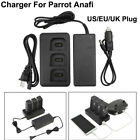 For Parrot ANAFI Drone Multi Batteries Balance Fast Charger Adapter Car Charger