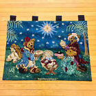 Boyds Bears Holiday Pageant Christmas Nativity Tapestry Wall Hanging
