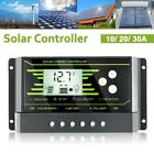 10 30A PWM LCD Dual USB Solar Panel Battery Regulator Charge Controller 12 24V