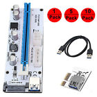 Lot Extender VER Riser Card USB 30 PCI E Express 1x To 16x Adapter Power Cable