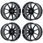 19 FORD MUSTANG SHELBY GT350 BLACK CHROME WHEELS RIM FACTORY OEM 10053 EXCHANGE