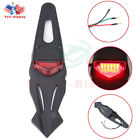 Dirt Bike Motorcycle Tail Light Brake Run Fender Red LED Off Road Supermoto