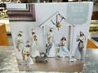 ST NICHOLAS SQUARE 10 PIECE NATIVITY SET CHRISTMAS DECORATIONS RESIN VILLAGE 11