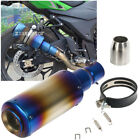 38-51mm Motor Motorcycle Stainless Exhaust Muffler Tail Pipe Without DB killer