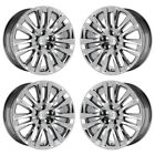 19 LEXUS LS460 LS600 PVD CHROME WHEELS RIMS FACTORY OEM SET 74284 EXCHANGE