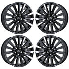 19 LEXUS LS460 LS600 BLACK CHROME WHEELS RIMS FACTORY OEM SET 74285 EXCHANGE