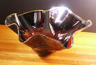 Gorgeous large signed Susan Glass 1996 art glass bowl Exc Plum amber green