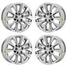 17 LEXUS ES350 HYBRID PVD CHROME WHEELS RIMS FACTORY OEM SET 74275 EXCHANGE