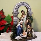 Nativity Set Scene 85 inch Statue Holy Family Shepherd Arch Animals