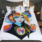Woman Duvet Cover With Pillowcases Bedding Set Native Girl by Pixie Cold Art