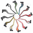 Pair Double color Long Brake Clutch Levers for Kawasaki  ZX-6 1990-1999