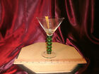green Ball Bubble Stem Martini Glass 7
