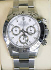 STAINLESS STEEL ROLEX COSMOGRAPH DAYTONA WHITE DIAL with Box & Papers