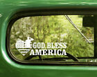 2 GOD BLESS AMERICA DECALs Military Sticker For Car Window Bumper Laptop RV