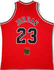 MICHAEL JORDAN Signed 2009 HOF Patch Bulls Red Authentic Jersey UDA LE 122 123
