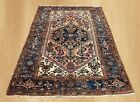 Authentic Hand Knotted Antique Persian Hamadan Wool Area Rug 7 x 4 FT (6848)