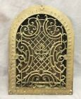 Antique Cast Iron Arch Gothic Heat Grate Wall Register 9X13 Dome Vtg  50-19D