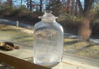 1770s COLONIAL ERA PONTILED FLINT GLASS APOTHECARY BOTTLE FLARED LIP W/ STOPPER