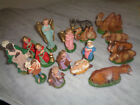 Vtg Italian Paper Mache Composition 16 Piece NATIVITY Scene Figures Fontanini