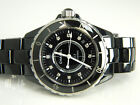 Chanel J12 Diamond Black Ceramic 38mm Automatic Watch Mens Womens Unisex w/ Box