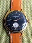 ULYSSE NARDIN BLACK DIAL GOLD PLATED CASE 1940 Free shipping!!!!