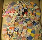 Vintage wedding ring quilt pieces blocks lot 70 from1920s-30s Depression Era 14