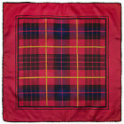 Vintage hand-rolled silk pocket square scarf handkerchief