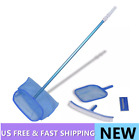 Pool Cleaning Set Brush 2 Leaf Skimmers with Telescopic Pole Brush  Scrubber