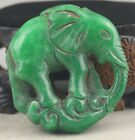 Chinese old natural jade hand-carved elephant pendant NO.G167